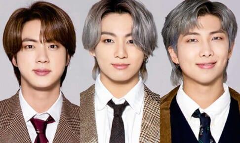BTS ジン(左)ジョングク(中央)RM(右)