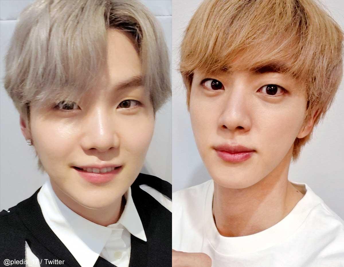 BTS シュガ(左)ジン(右)