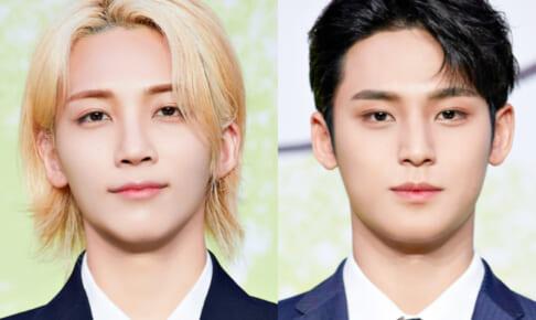 (左)SEVENTEEN ジョンハン(右)ミンギュ