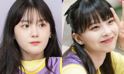 「Girls Planet 999」キム・チェヒョン(左)、川口ゆりな(右)